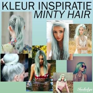 kleur inspiratie- minty hair