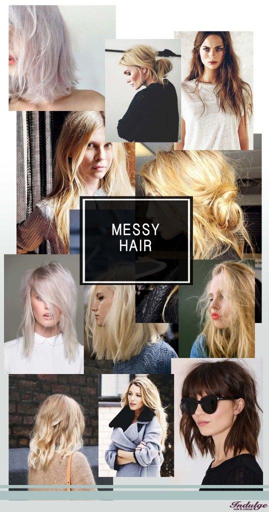 Messy hair inspiratie
