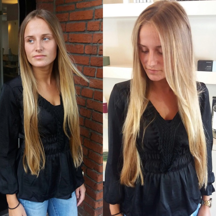 Blonde free hand colour!
